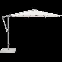 Parasol déporté SUNWING® CASA de Glatz, Structure anodisé naturel, Ø.300 cm, 404 White