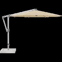 Parasol déporté SUNWING® CASA de Glatz, Structure anodisé naturel, Ø.300 cm, 422 Cream