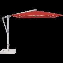 Parasol déporté SUNWING® CASA de Glatz, Structure anodisé naturel, 300 x 240 cm, 403 Carmine