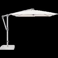 Parasol déporté SUNWING® CASA de Glatz, Structure anodisé naturel, 300 x 240 cm, 404 White