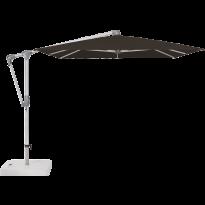 Parasol déporté SUNWING® CASA de Glatz, Structure anodisé naturel, 300 x 240 cm, 408 Black