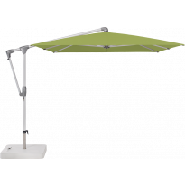 Parasol déporté SUNWING® CASA de Glatz, Structure anodisé naturel, 300 x 240 cm, 411 Sugar grass