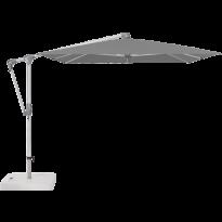 Parasol déporté SUNWING® CASA de Glatz, Structure anodisé naturel, 300 x 240 cm, 420 Smoke