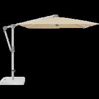Parasol déporté SUNWING® CASA de Glatz, Structure anodisé naturel, 300 x 240 cm, 422 Cream