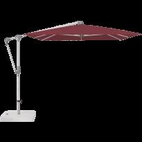 Parasol déporté SUNWING® CASA de Glatz, Structure anodisé naturel, 300 x 240 cm, 436 Wine