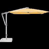 Parasol déporté SUNWING® CASA de Glatz, Structure anodisé naturel, 300 x 240 cm, 438 Straw