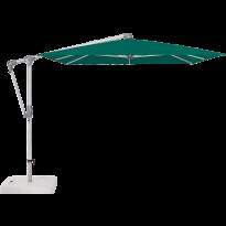 Parasol déporté SUNWING® CASA de Glatz, Structure anodisé naturel, 300 x 240 cm, 446 Aloe