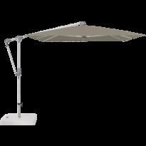 Parasol déporté SUNWING® CASA de Glatz, Structure anodisé naturel, 300 x 240 cm, 461 Taupe