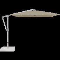 Parasol déporté SUNWING® CASA de Glatz, Structure anodisé naturel, 300 x 240 cm, 476 Cinnamon