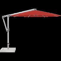 Parasol déporté SUNWING® CASA de Glatz, Structure anodisé naturel, Ø.330 cm, 403 Carmine