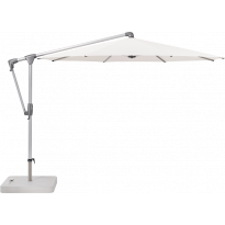 Parasol déporté SUNWING® CASA de Glatz, Structure anodisé naturel, Ø.330 cm, 404 White