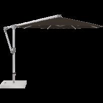 Parasol déporté SUNWING® CASA de Glatz, Structure anodisé naturel, Ø.330 cm, 408 Black