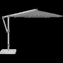 Parasol déporté SUNWING® CASA de Glatz, Structure anodisé naturel, Ø.330 cm, 420 Smoke
