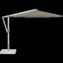 Parasol déporté SUNWING® CASA de Glatz, Structure anodisé naturel, Ø.330 cm, 461 Taupe
