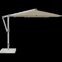Parasol déporté SUNWING® CASA de Glatz, Structure anodisé naturel, Ø.330 cm, 476 Cinnamon