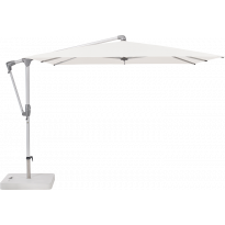 Parasol déporté SUNWING® CASA de Glatz, Structure anthracite, 270 x 270 cm, 404 White