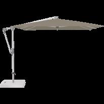 Parasol déporté SUNWING® CASA de Glatz, Structure anthracite, 270 x 270 cm, 461 Taupe
