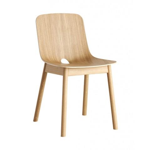 Chaise en chêne MONO de Woud, 2 coloris