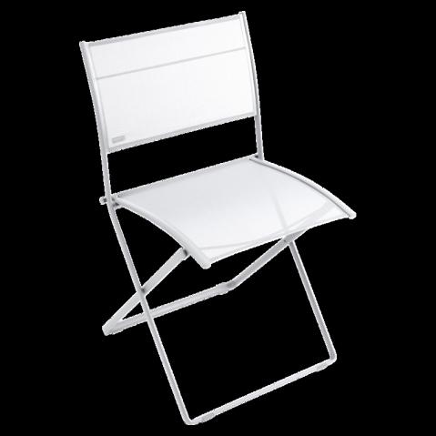 Chaise pliante PLEIN AIR de Fermob blanc coton
