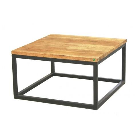 Table basse ANVERS 70x70 en chêne ancien