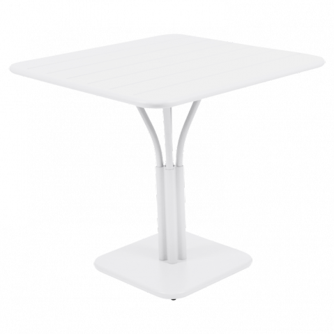 Table carrée LUXEMBOURG de Fermob blanc coton