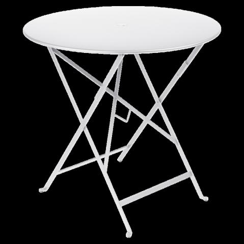 Table ronde pliante BISTRO de Fermob D.77 x H.74 cm Blanc coton