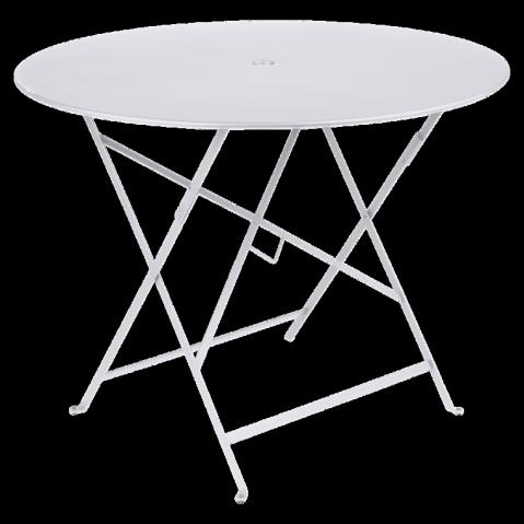 Table ronde pliante BISTRO de Fermob D.96 x H.74 cm Blanc coton
