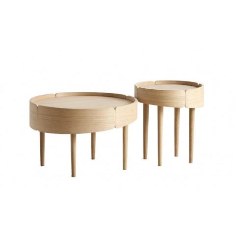 Table basse SKIRT de Woud, 2 tailles, 2 coloris
