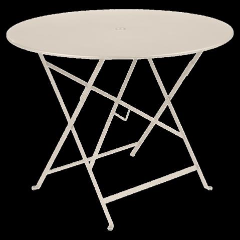 Table ronde pliante BISTRO de Fermob D.96 x H.74 cm Lin