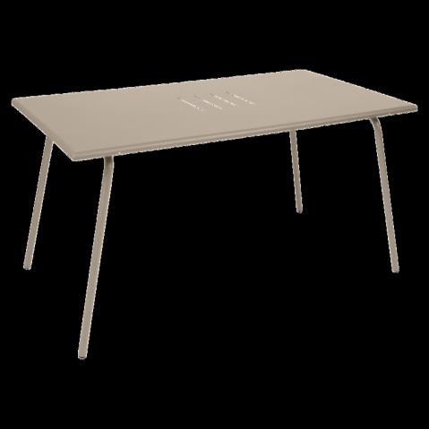 Table haute MONCEAU de Fermob, 146x80x74, Muscade