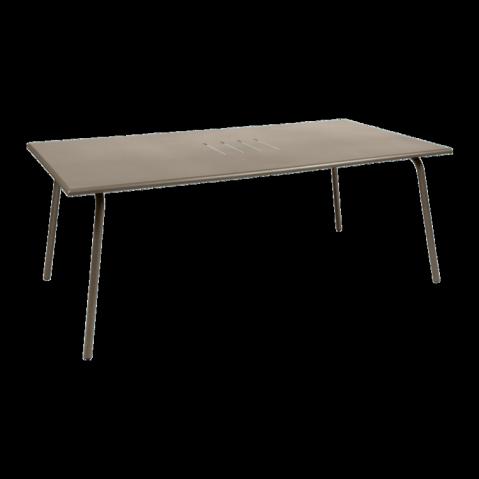 Table haute MONCEAU de Fermob, 194x94x74, Muscade