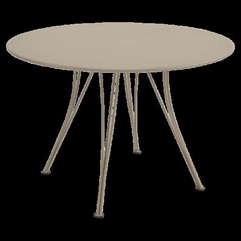 Table ronde RENDEZ-VOUS de Fermob muscade