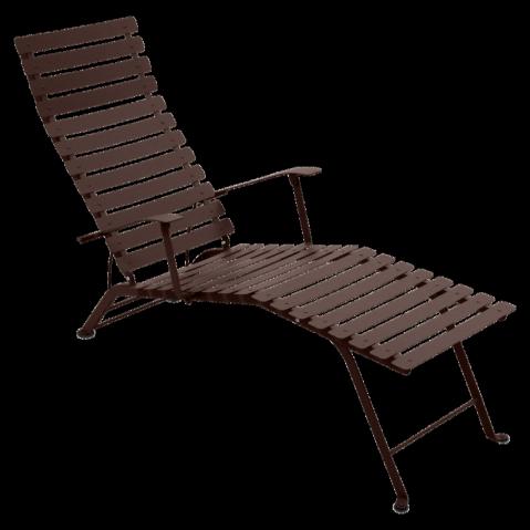 Chaise longue pliante BISTRO de Fermob, Rouille