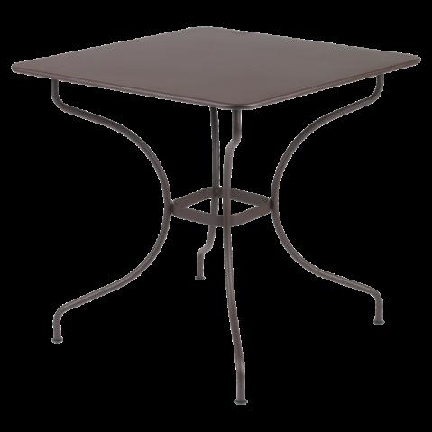 Table carrée OPÉRA de Fermob rouille