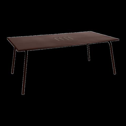 Table haute MONCEAU de Fermob, 194x94x74, Rouille