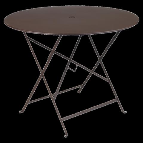 Table ronde pliante BISTRO de Fermob D.96 x H.74 cm Rouille