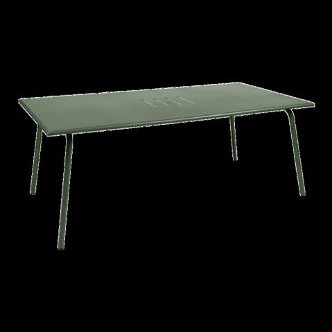 Table haute MONCEAU de Fermob, 194x94x74, Cactus