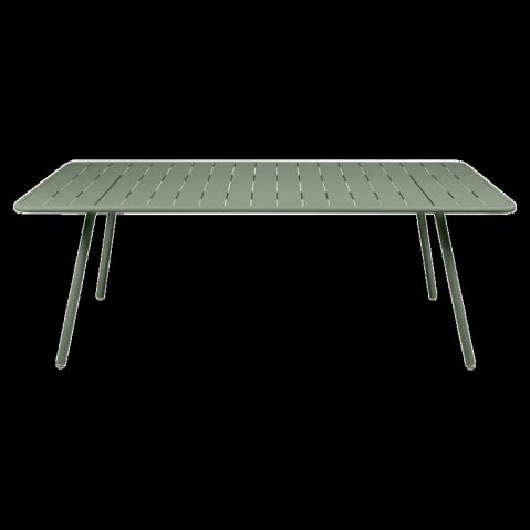 Table rectangulaire confort 6 LUXEMBOURG de Fermob, couleur Cactus