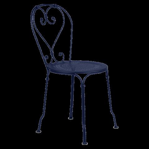 Chaise 1900 de Fermob, Bleu abysse