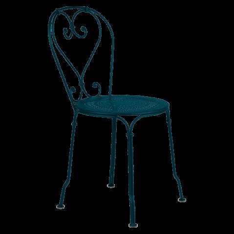Chaise 1900 de Fermob, bleu acapulco