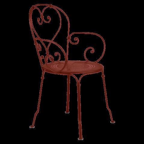 Fauteuil 1900 de Fermob, ocre rouge