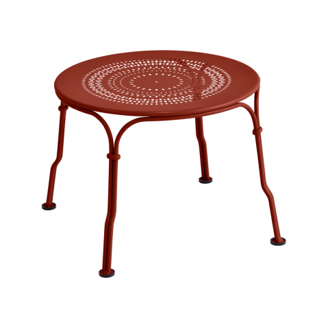 Table basse 1900 de Fermob, ocre rouge