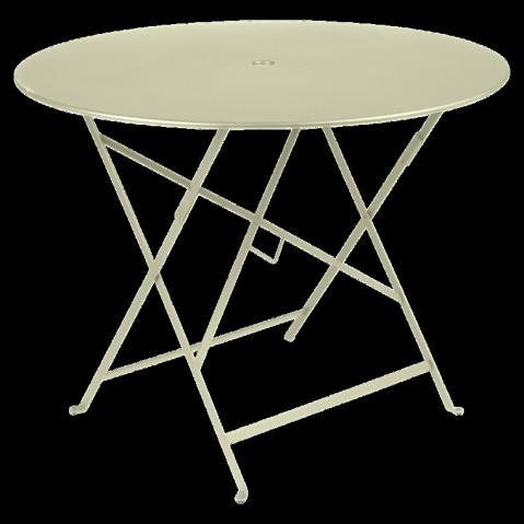 Table ronde pliante BISTRO de Fermob D.96 x H.74 cm Tilleul