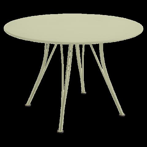 Table ronde RENDEZ-VOUS de Fermob tilleul