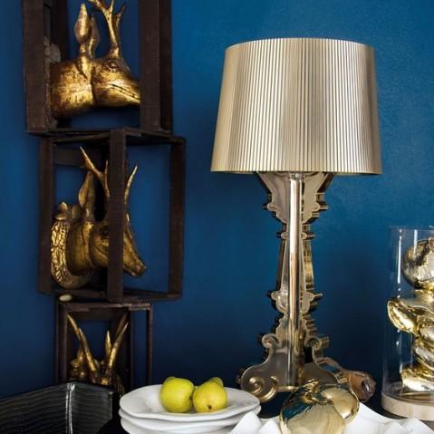 lampe bourgie de kartell multicolore or. Black Bedroom Furniture Sets. Home Design Ideas