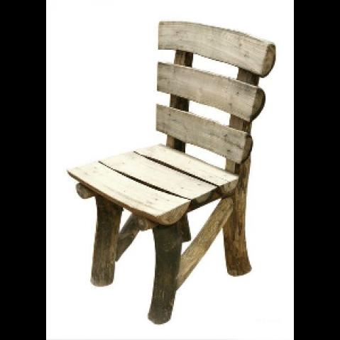 Chaise rondins cahute en teck flott - Chaise bois flotte ...