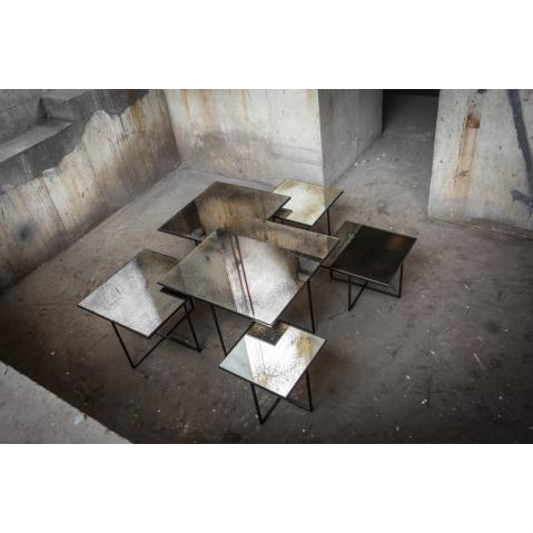 table basse bronze heavy aged mirror de notre monde 5 tailles. Black Bedroom Furniture Sets. Home Design Ideas