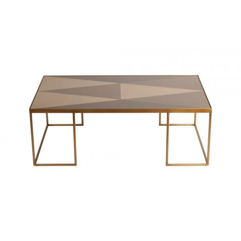Table basse Geometric Bronze de Notre Monde, 102 x 61 x 36