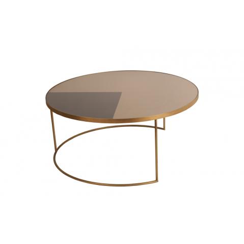 Table basse Geometric Bronze de Notre Monde, D.92 x H.41 cm