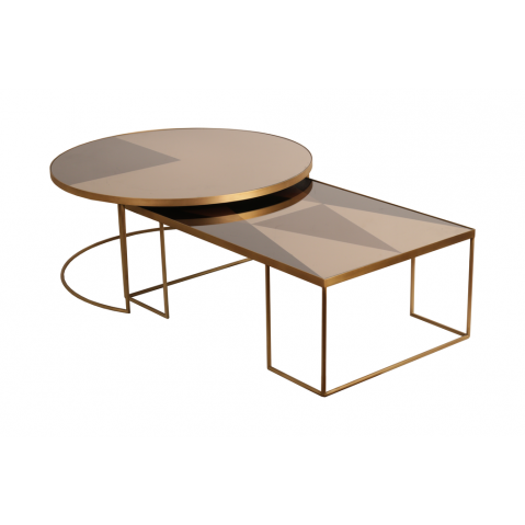 table basse geometric bronze de notre monde x cm. Black Bedroom Furniture Sets. Home Design Ideas